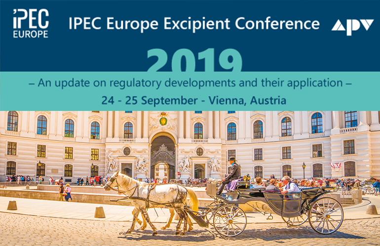 IPEC Europe Excipient Conference 2019
