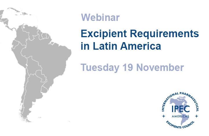 Excipient Requirements in Latin America