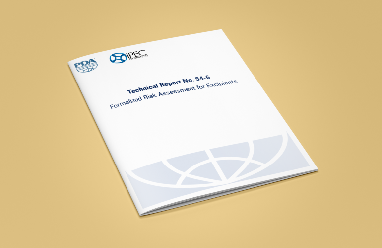 PDA and IPEC Federation Publish Technical Report No. 54-6 Formalized Risk Assessment for Excipients