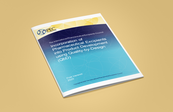 New IPEC Guide: Incorporation of Pharmaceutical Excipients into Product Development using Quality-by-Design