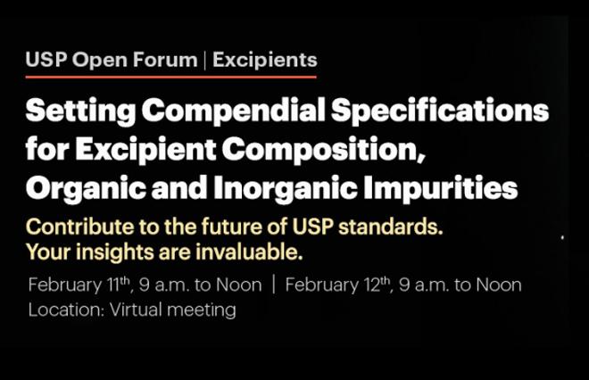 USP Open Forum | Excipients